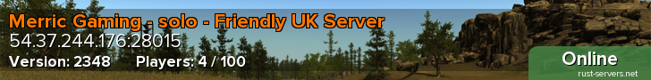 Merric Gaming - solo - Friendly UK Server