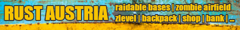 Rust Austria - raidable bases | zombie airport | zlevels |